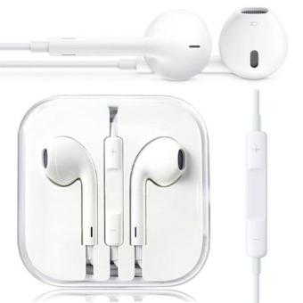 Apple Handsfree For Apple iPhone 5/5c/5s Headset / Earphone ORI For All Phone Model Stereo - White/Putih