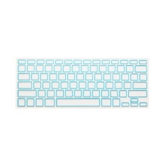 Apple Mac-book Air / Mac-book Pro JH Silicone Keyboard Cover Skin 15.4 Inch (Block White Blue) (Intl)