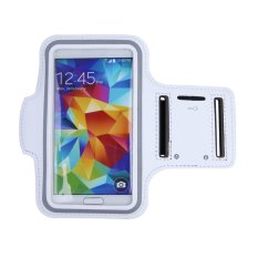 GYM Sports Arm Band Case Cover Holder For Samsung Galaxy S3 / S4 / S5 (White)