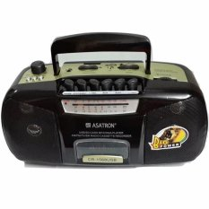 Asatron Radio Kaset Tape + USB + MP3 + MMC Portable Asatron CR-1569 - Hitam