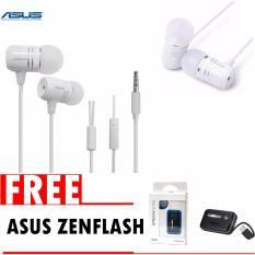 Asus Earphone ZenEar Handsfree For Aus Zenfone Jack 3.5mm + GRATIS Selfie Asus ZenFlash