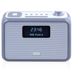 August MB400 - DAB / DAB + Radio With NFC Bluetooth Wireless Speaker, Alarm Clock And FM Tuner - Portable Radio And MP3 Player: SD Card Reader / 3.5mm Audio In - Compact Stereo System (Gray) - Intl
