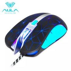 AULA OFFICIAL Fighting Spirit Customized Keys 4 DPI RGB Gaming Mouse (Black) - Intl