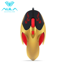 AULA OFFICIAL Flying Fish Optical Wired USB 4 Buttons Gaming Mouse