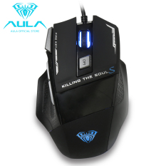 AULA OFFICIAL Killing SoulⅡWired Gaming Mouse With 7 Customized Marco Keys Breath Light