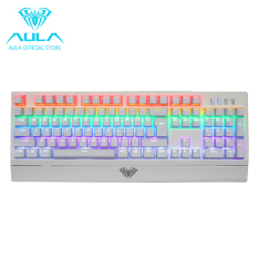 AULA OFFICIAL Wings Of Liberty Mechanical Gaming Keyboard 104keys Multicolors LED Backlit (White) (Intl)