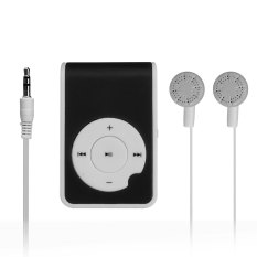 Autoleader Mirror Clip USB Digital Mp3 Music Player Maximum Support 8GB TF Card Black (Intl)
