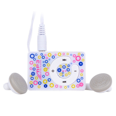 Azone Easy To Clip-on Mini Clip USB MP3 Music Media Player with Micro TF / SD Card (White)