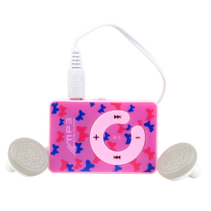 Azone Easy To Clip-on Mini Clip USB MP3 Music Media Player with Micro TF / SD Card (Pink)