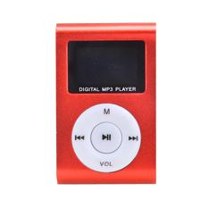 Azone Mini Clip Metal Mp3 Player Micro / TF Slot SD Card (Red)