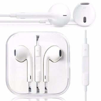 Beauty Handsfree For Apple iPhone 5/5c/5s Headset / Earphone For All Phone Model Stereo - White/Putih