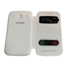 Beauty Leather Case Sarung For Samsung Galaxy Core I8262 Flip Cover Kulit Hardcase/ Leather Cover