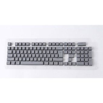 Beautymaker 104 keys PBT keycaps Backlit Double-shot Keycaps for Mechanical Cherry MX Switch Grey - intl