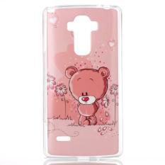 ... Berwarna Merah Muda Bunga Belakang Case Source Beruang Yang Indah Lembut TPU Silikon Gel Case Untuk