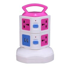 BEST CT 2 Level Vertical With 7 Hole And 2 USB 2.1A Electrical Extension Power Socket