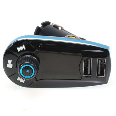 Best Mp3 Modulator with USB Charger 2.1A For Smartphone - 618C - Hitam-Biru