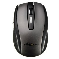 Bestrunner 2.4G USB Wireless Optical Mouse Mice Adaptable DPI For PC Laptop Black And Gray