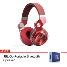 Bluedio T2 + Stereo Wireless Bluetooth 4.1 With Micro SD Slot (Red) + JBL Speaker (Blue)