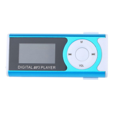 "Bluelans 1.3"" USB Clip LCD Screen MP3 Player 16GB Micro SD TF (Blue)"