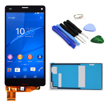 Bluesky Black LCD Display Touch Screen with Digitizer Assembly +Adhesive + Tools For Sony Xperia Z3 Mini Compact D5803 D5833 - Intl