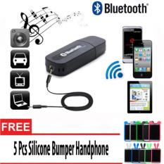 Bluetooth Audio Receiver Adapter Music For Speaker 3.5mm Stereo + 5 Pcs Bumper Hp