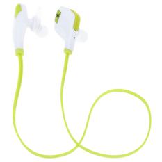 Bluetooth Mini Lightweight Neckband In-Ear Wireless Sport Stereo Universal Bluetooth Headset With Microphone (Green) (Intl)