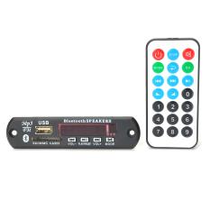 Bluetooth MP3 Decoding Board Module W / SD Card Slot / USB 2.0 Port / FM / Remote - Black + White