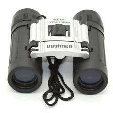 Bushnell Binocular 8x21 Teropong Outdoor Sport [Silver]