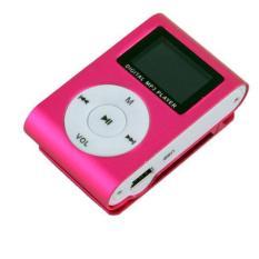 BUYINCOINS Metal Clip Digital MP3 Player (Pink)
