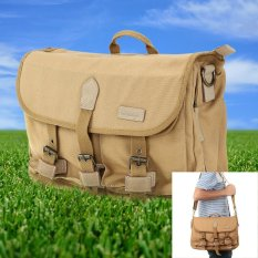 Caden F12 Vintage Waterproof Canvas Camera Shoulder Bag For DSLRCanon Nikon Sony Olympus Pentax (Khaki)