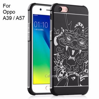 Calandiva Dragon Shockproof Hybrid Case for Oppo A39 / A57- Hitam