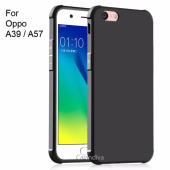 Calandiva Shockproof Hybrid Case for Oppo A39 / A57- Hitam