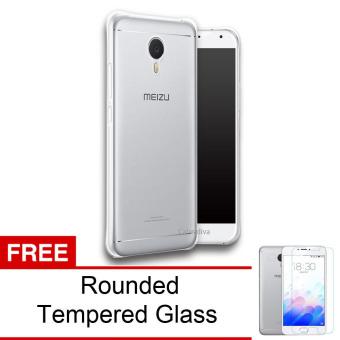 Calandiva Shockproof TPU Ultrathin Case untuk Meizu M3 Note 5.5 inch - Clear + Rounded Tempered