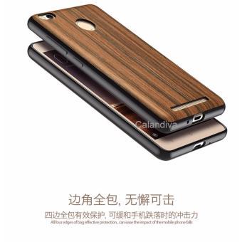 Calandiva Wood Texture Slim Softcase for Xiaomi Redmi 3 Pro / Prime / 3s - Coklat
