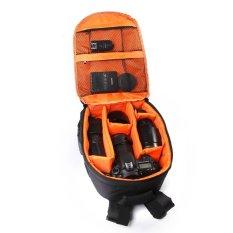 Camera Backpack Bag Waterproof DSLR Case For Canon / Nikon / Sony (Orange)
