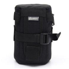 Camera Lens Protector Protective Pouch Case Bag Cover For DSLR SLR 8.5x15cm (Black)