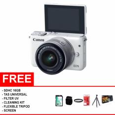Canon EOS M10 Kit 1 15-45mm f/3.5-6.3 IS STM / Garansi Datascrip - (Paket Komplit)
