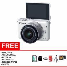 Canon EOS M10 Kit 1 15-45mm f/3.5-6.3 IS STM / Garansi Datascrip - (Paket Komplit)