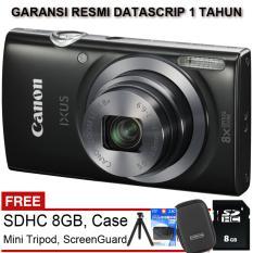 Canon Ixus 185 - 20 MP - 8x Zoom - Free Paket Aksesoris Komplit