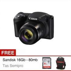 Canon Powershot SX-430 IS - Hitam + Gratis SD Card + Tas Semipro