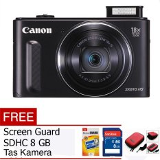 Canon PowerShot SX620 HS - Hitam + Gratis Memory Card + Screen Guard + Tas Kamera