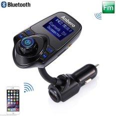 Car MP3 Audio Player Bluetooth FM Transmitter Wireless FM Modulator Car Kit HandsFree LCD Display USB Charger For IPhone Samsung - Intl