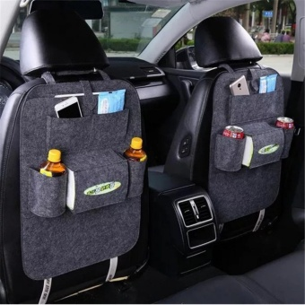 Car Seat Back Organizer, Multi-Pocket Travel Storage Bag for Happy Travelling - intl