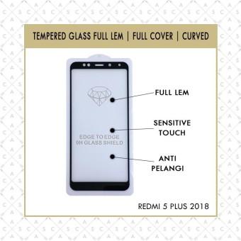 CASA Tempered Glass 5D for Redmi 5 Plus 2018 - FULL LEM & FULL SCREEN [