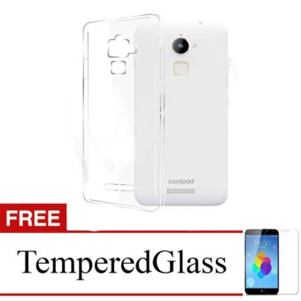 Case for CoolPad Sky 3 / E502 - Clear + Gratis Tempered Glass - Ultra Thin