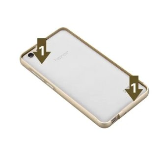 ... Case For Huawei Honor 4C Metal Bumper Frame Case Hard PC Back Cover Protector