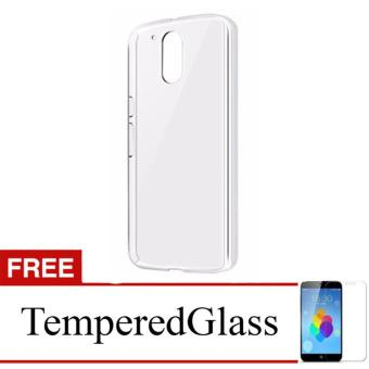 Case for Motorola Moto E3 Power - Clear + Gratis Tempered Glass -Ultra Thin Soft Case