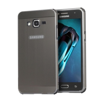 Case for Samsung Galaxy J2 Prime Metal Frame Bumper With MirrorEffect Hard PC Back Cover (Black) - intl
