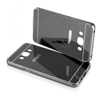 Case for Samsung Galaxy J5 2016 (J510) Aluminium Bumper With MirrorBackdoor Slide - Black