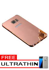 Case for Samsung Galaxy Note 5 Aluminium Bumper With Mirror Backdoor Slide Rose Gold